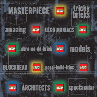 Creative Imaginations - Lego Classic Collection - 12 x 12 Embossed Paper - Lego Classic Classic Phrase