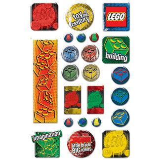 Creative Imaginations - Lego Classic Collection - Epoxy Stickers - Classic