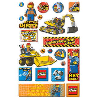 Creative Imaginations - Lego City Collection - Epoxy Stickers - Construction