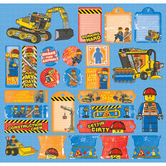 Creative Imaginations - Lego City Collection - 12 x 12 Cardstock Stickers - Construction