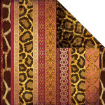 Creative Imaginations - Untamed Collection by Marah Johnson - 12 x 12 Double Sided Paper - Cheetah