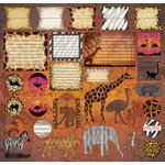 Creative Imaginations - Untamed Collection by Maraha Johnson - 12 x 12 Cardstock Stickers - Untamed