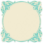 Creative Imaginations - Narratives - Bloom Collection - 12 x 12 Die Cut Paper - Antiquity Teal, CLEARANCE