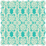 Creative Imaginations - Narratives - Bloom Collection - 12 x 12 Die Cut Paper - Boutique Teal, CLEARANCE