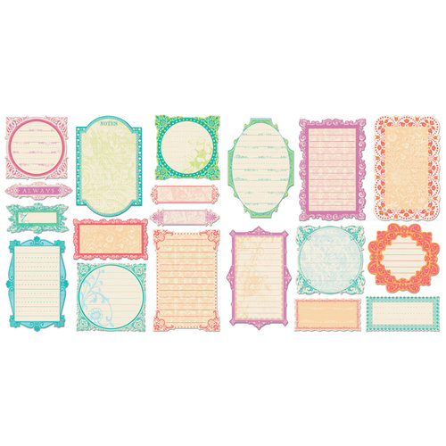 Creative Imaginations - Narratives by Karen Russell Collection - Die Cut Pieces - Bloom Journaling Frames, CLEARANCE