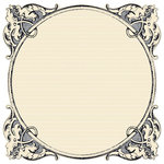 Creative Imaginations - Narratives - Antique Cream Collection - 12 x 12 Die Cut Paper - Antiquity