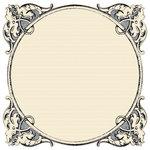 Creative Imaginations - Narratives - Antique Cream Collection - 12 x 12 Die Cut Paper - Antiquity