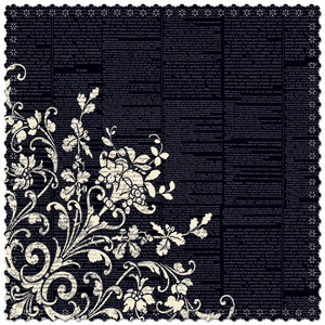 Creative Imaginations - Narratives - Antique Cream Collection - 12 x 12 Die Cut Paper - Renaissance