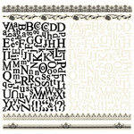 Creative Imaginations - Narratives - Antique Cream Collection - 12 x 12 Alphabet Cardstock Stickers - Antique Cream ABC