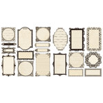 Creative Imaginations - Narratives by Karen Russell Collection - Die Cut Pieces - Cream Journaling Frames