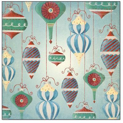 Creative Imaginations - Christmas - 12 x 12 Glitter Paper - Deck The Halls