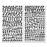 Creative Imaginations - Signature Magic Collection - Glittered Foam Alphabet Stickers - Goofy