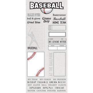 Creative Imaginations - Art Warehouse by Danelle Johnson - Baseball Collection - Cardstock Stickers - Baseball