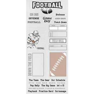 Creative Imaginations - Art Warehouse by Danelle Johnson - Touchdown Collection - Cardstock Stickers - Touchdown