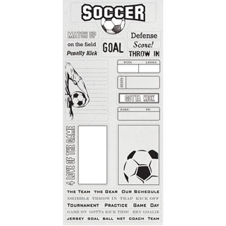 Creative Imaginations - Art Warehouse by Danelle Johnson - Goal Collection - Cardstock Stickers - Goal