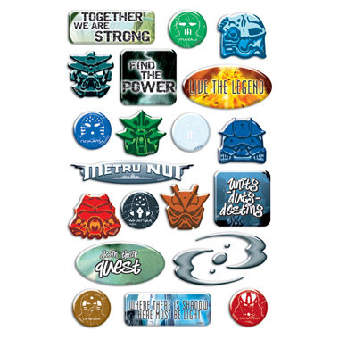Creative Imaginations - Lego Bionicle Collection - Epoxy Stickers - Bionicle