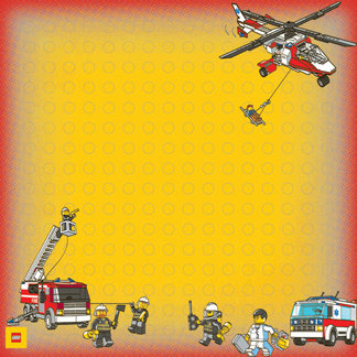 Creative Imaginations - Lego City Emergency Collection - 12 x 12 Paper - Rescue