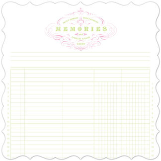 Creative Imaginations - Narratives by Karen Russell - Lilly Lane Collection - 12 x 12 Die Cut Paper - Memories Ledger, CLEARANCE