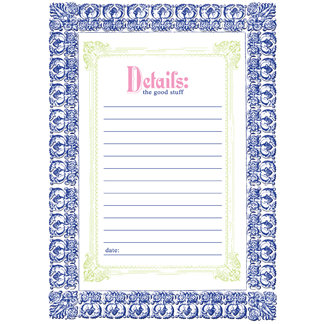 Creative Imaginations - Narratives by Karen Russell - Lilly Lane Collection - Embossed Cardstock Punchout Frame - China Blue, CLEARANCE