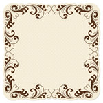 Creative Imaginations - Narratives by Karen Russell - Sepia Collection - 12 x 12 Die Cut Paper - Sepia Scroll