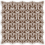 Creative Imaginations - Narratives by Karen Russell - Sepia Collection - 12 x 12 Die Cut Paper - Sepia Damask