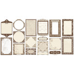 Creative Imaginations - Narratives by Karen Russell - Sepia Collection - Die Cut Pieces - Journaling Frames, CLEARANCE