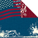 Creative Imaginations - Melange - Liberty Collection - 12 x 12 Double Sided Paper - Old Glory