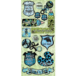 Creative Imaginations - Melange - Rock-A-Bye Baby Boy Collection - Jumbo Cardstock Stickers - Boy