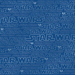Creative Imaginations - Star Wars Collection - 12 x 12 Silver Foil Paper - Star Wars Logo