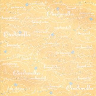 Creative Imaginations - Fairytale Collection - 12 x 12 Glitter Paper - Cinderella, CLEARANCE