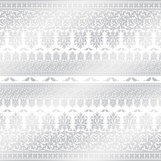 Creative Imaginations - Lovebird Collection - 12 x 12 Embossed Foil Paper - Lovebird Stripe, CLEARANCE
