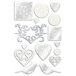 Creative Imaginations - Lovebird Collection - Foil Epoxy Stickers, CLEARANCE