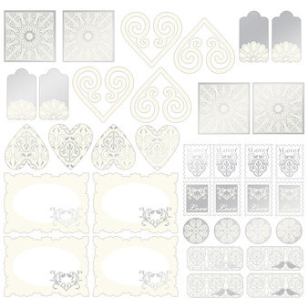 Creative Imaginations - Lovebird Collection - 12 x 12 Foil Stickers, CLEARANCE