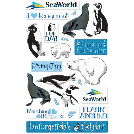 Creative Imaginations - Seaworld - Penguins Collection - Epoxy Stickers - Penguin