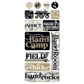 Creative Imaginations - Marching Band Collection - Jumbo Stickers