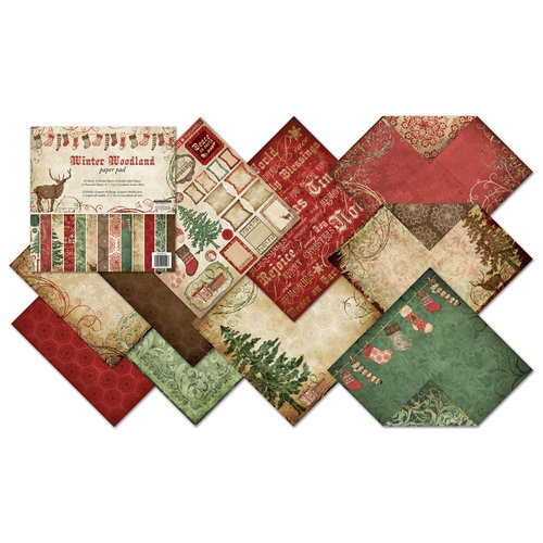 Creative Imaginations - Winter Woodland Collection by Christine Adolph - Christmas - 12 x 12 Paper Pad, BRAND NEW