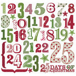 Creative Imaginations - Art Warehouse by Danelle Johnson - Noel Collection - Christmas - 12 x 12 Cardstock Stickers - 25 Days