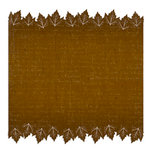 Creative Imaginations - Harvest Moon Collection - 12 x 12 Die Cut Paper - Brown Leaf