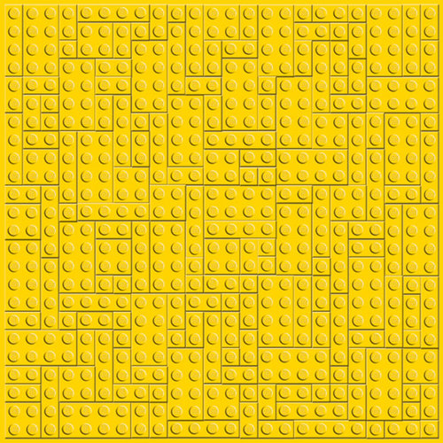 Creative Imaginations - Lego Classic Collection - 12 x 12 Embossed Paper - Yellow Brick