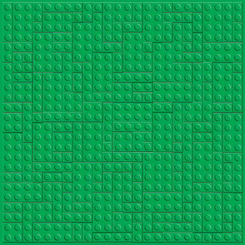 Creative Imaginations - Lego Classic Collection - 12 x 12 Embossed Paper - Green Brick