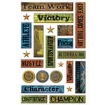 Creative Imaginations - Victory Collection by Marah Johnson - Epoxy Stickers - Victory