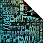 Creative Imaginations - Melange - Celebrate Me Collection - 12 x 12 Double Sided Paper - VIP