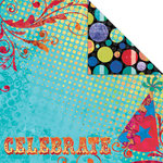 Creative Imaginations - Melange - Celebrate Me Collection - 12 x 12 Double Sided Paper - Celebrate