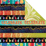 Creative Imaginations - Melange - Celebrate Me Collection - 12 x 12 Double Sided Paper - Party Zone