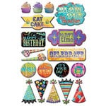Creative Imaginations - Melange - Celebrate Me Collection - Epoxy Stickers