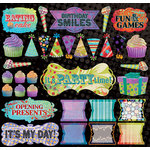 Creative Imaginations - Melange - Celebrate Me Collection - 12 x 12 Cardstock Stickers - Shapes