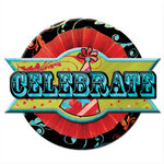 Creative Imaginations - Melange - Celebrate Me Collection - Layered Chipboard Sticker - Celebrate