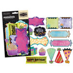 Creative Imaginations - Melange - Celebrate Me Collection - Die Cut Pieces - Shapes, CLEARANCE