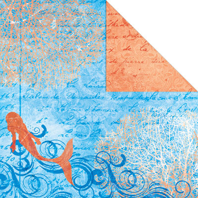 Creative Imaginations - Oceana Collection - 12 x 12 Double Sided Paper - Lagoon Frolic