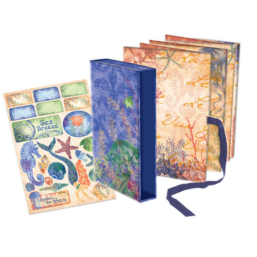 Creative Imaginations - Oceana Collection - 5 x 7 Pre-Printed Accordion Book in a Box